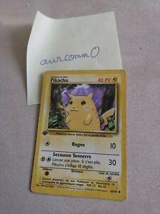 Carte Pokémon Wizards Pikachu. 58/102 set de Base 1999 version française.