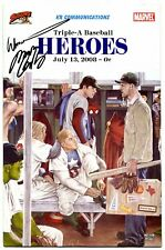 Triple-A Baseball Heroes #2 2008- Marvel Comics RARE Buffalo Bisons Signed!!