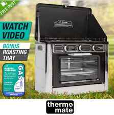 Powerful Camping Portable Oven and Stove 3 Burners LPG Gas Stainless Steel AGA