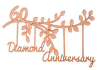 Wooden MDF Tree Branch 60th Diamond Wedding Anniversary Frame Gift 60 years