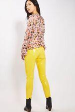 L/XL RARE Topshop 32X30 Jamie Moto Jaune Vinyle en Plastique PVC Jeans Pantalon UK 14