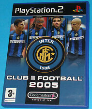 Club Football Inter 2005 - Sony Playstation 2 PS2 - PAL