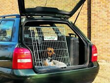 "30"" Car Sloping Transport Travel Mobile Dog Puppy Cat Metal Cage Crate Carrier"
