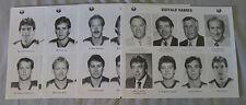 Original Lot of 4 NHL Buffalo Sabres 1987 Hockey Press Photos