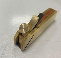 75mm Mini Scraper Bull Nose Plane Brass and Hardwood