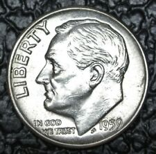 1959 USA - ONE DIME - .900 SILVER - Roosevelt - Nice