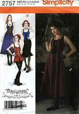 Simplicity 2757 Steampunk Dress & Bodice Costume Sewing Pattern Sz 14 - 22 Uncut