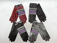 ISOTONER Signature womens Dress Smartouch Leather Gloves 7 7.5 8 NEW Macys