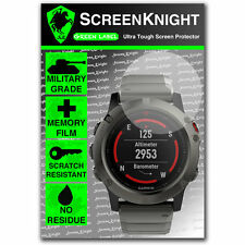 ScreenKnight Garmin Fenix 5X SCREEN PROTECTOR - military shield [51mm Case]