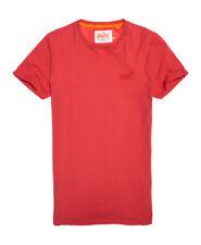 New Mens Superdry Orange Label Lite Longline T-Shirt Washed Red