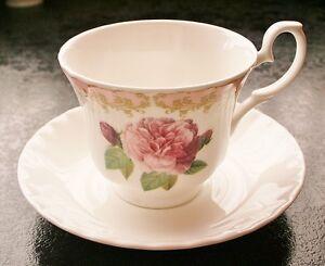 Roy Kirkham Vintage Rose Tea Cup &Saucer Quality Selected SecondsFine Bone China