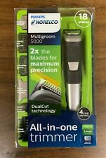 Philips Norelco 5000 Multigroom Hair Trimmer with 18 Attachments  NEW FREE SHIP