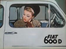 Fiat 600 D depliant brochure originale dell'epoca