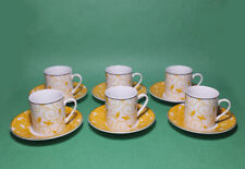 Alpine Cuisine Espresso Cup (6) with Saucer (6) and Tray Made in Germany