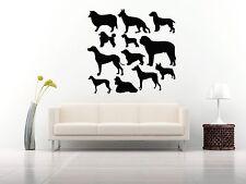 Wall Room Decor Art Vinyl Sticker Mural Decal Types Of Dog Breeds Pattern FI113
