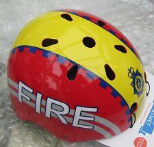Kiddimoto Children's FIREMAN Bike BMX Cycle Scooter Skate Helmet Child fire Med
