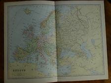 1874 ENGRAVING MAP - EUROPE By Bartholomew Austro-Hungary BOSNIA Servia ROUMANIA