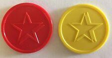 More details for plastic tokens star - bag of 100 - home school, merit, reward, voting