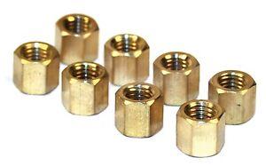 Solex Dellorto Weber intake manifold nuts, 8 mm x 1.25 pitch metric brass nuts