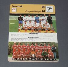FICHE FOOTBALL REAL MADRID 1966 GENTO BAYERN MÜNCHEN 1976 BECKENBAUER