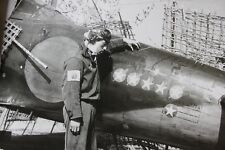 WWII Photo WW2 Japanese Ace Pilot Zero Kill Markings  World War Two Japan / 2501