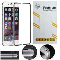 New Metal Edge iPhone 7 Black Gorilla Tech Brand Screen Protector Tempered Glass