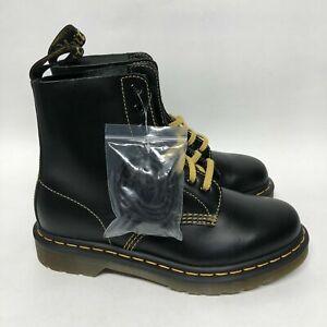 Dr. Martens 1460 Pascal Leather Boots Black Mens Sz 7
