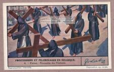 Procession Furnes Belgium Hooded Penitents Carrying Crosses 1930 Trade Ad Card