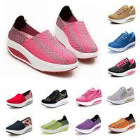 Women Summer Canvas Platform Wedge Running Gym Sport Shoes Outdoor Sneakers