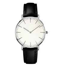 Ladies Men 2 hands (NO SEC'S HAND) Roman Faux Leather Analog Quartz Wrist Watch