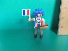 Playmobil SERIES 10 SOCCER FAN W/ WILD HAIR+ HOT DOG new fig + orig pkg PM #6840