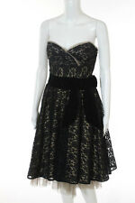 Betsey Johnson Multi-Color Solid Sweetheart Neckline Lace Evening Dress Size 8