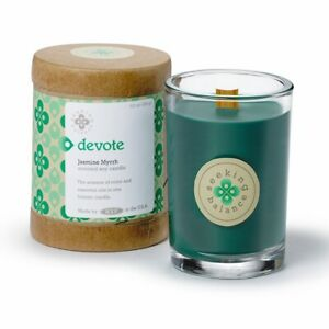 Devote 6.5oz Root Candles Seeking Balance jar eco friendly soy green 50 hr burn