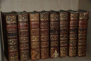 Livres anciens : Dictionnaire historique du 18e siècle 1785-1786, 8 vol complet
