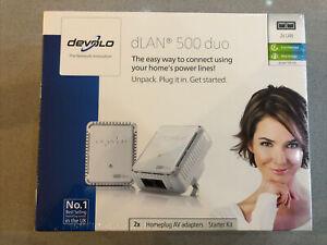 Devolo DLAN 500 Duo Powerline Starter Kit White 9108