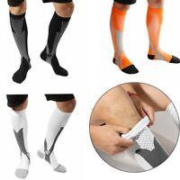 Unisexe Jambe Compression Des Chaussettes De Sport Des Chaussettes Anti -Fatigue
