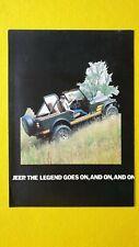 Jeep CJ7 Renegade Safari Open Hard Top brochure car sales catalogue MINT CJ 7 B