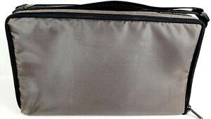 Vintage Case Logic 60 Audio Cassette Tape Soft Side Carry Tote Bag Gray, GUC