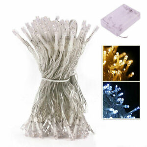 Battery Operated Fairy String Lights 10-100LED Xmas Party Tree Wedding Indoor
