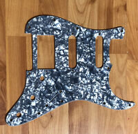 NEW Black Pearloid HSS Stratocaster PICKGUARD for Fender Strat 3 Ply Gray