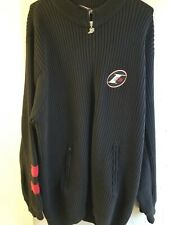 Iverson Limited Edition Black and Red 100%Cotton Sweater SZ L.