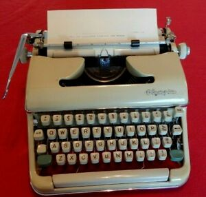 Vintage Olympia Portable Typewriter with Case.-Good Condition Needs New Ribbon