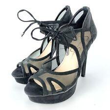 Jessica Simpson Womens High Heel Shoes 5 M Platform Peep Toe Stiletto Carmita