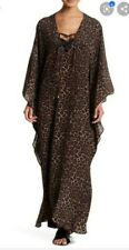 NWT MELISSA ODABASH CARLA SILK CHEETAH  COVER UP KAFTAN ONE SIZE