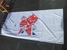 LONDON Paralympic Olympics 2012 Flag Sign Banner Olympic Memorabilia Red White