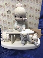 """Precious Moments """"Press On"""" Figurine #E-9265 Mothers Day Gift"""