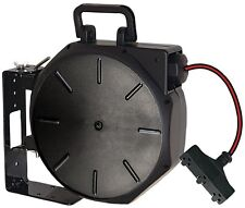 Retractable Cord Reel, Extension Cord System, 3 Outlet, Indoor Outdoor, 50 Ft.
