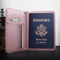 Travel Passport Holder Case Cover, Luxury Leather RFID Blocking, Wallet Pouch
