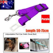 Adjustable Dog Cat Pet Harness Car Vehicle Seat Safety Belt Clip Restraint Leash