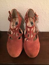 Urban Outfitters We Who See Women's Size 6 Platform Heels Brown Suede & Leather